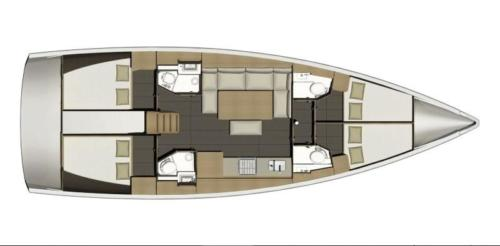 Dufour 460 GL Layout